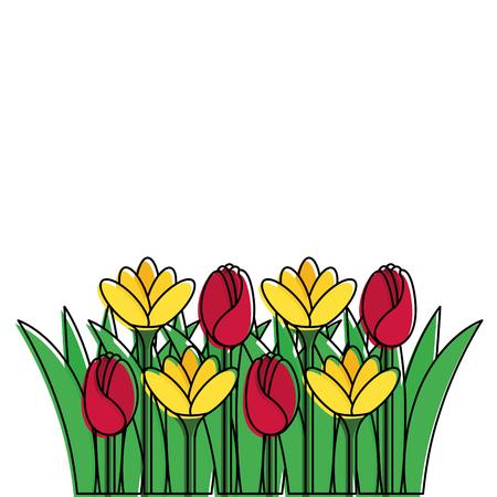 Beautiful flowers icon Ilustração