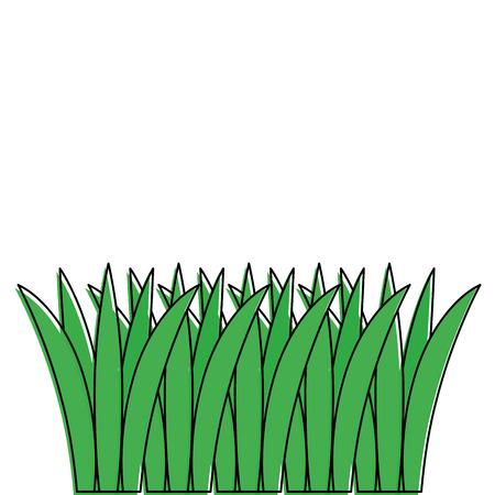 Gras gecultiveerd pictogram Stock Illustratie
