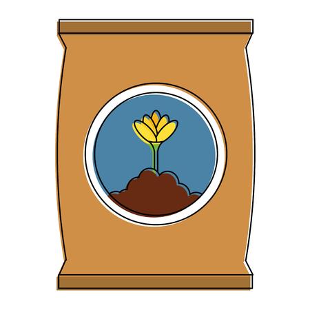 Fertilizer bag icon Ilustração