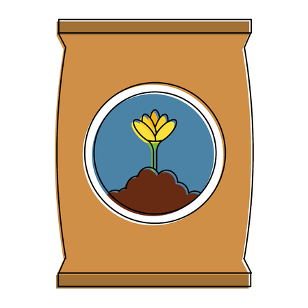 Fertilizer bag icon Illustration
