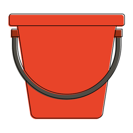 Plastic bucket icon