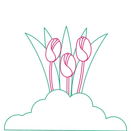 美しいバラ栽培アイコンベクトルイラストデザイン  イラスト・ベクター素材