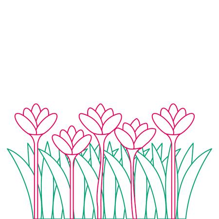 美しい花、栽培アイコン、ベクトルイラストデザイン
