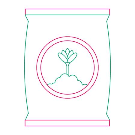 Progettazione dell'illustrazione di vettore dell'icona isolata borsa del fertilizzante Archivio Fotografico - 91941988