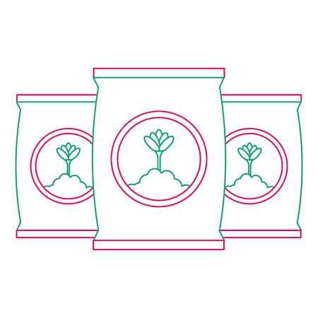 fertilizer bags isolated icon vector illustration design Stock Vector - 92027928