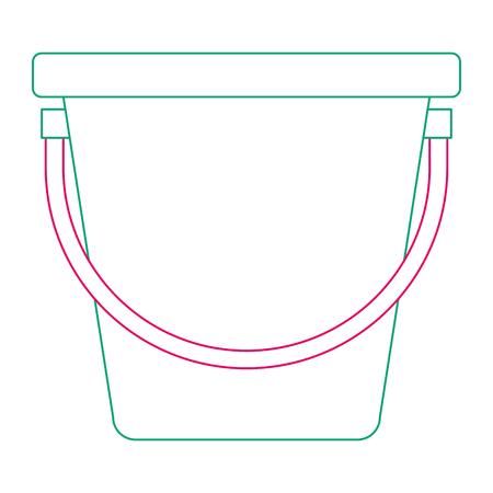 プラスチックバケツ分離アイコンベクトルイラストデザイン