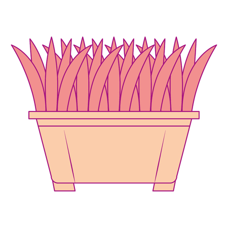 Gras in vector de illustratieontwerp van het pottenpictogram Stockfoto - 91879856