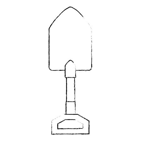 gardening shovel isolated icon vector illustration design