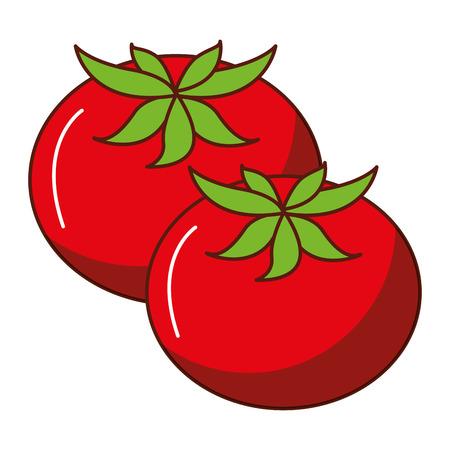 Fresh tomatoes isolated icon vector illustration design Vektoros illusztráció