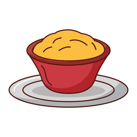 Progettazione dell'illustrazione di vettore dell'icona isolata salsa di formaggio deliziosa Archivio Fotografico - 92027971