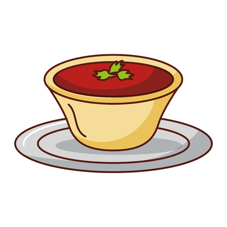 tomato sauce in dish vector illustration design