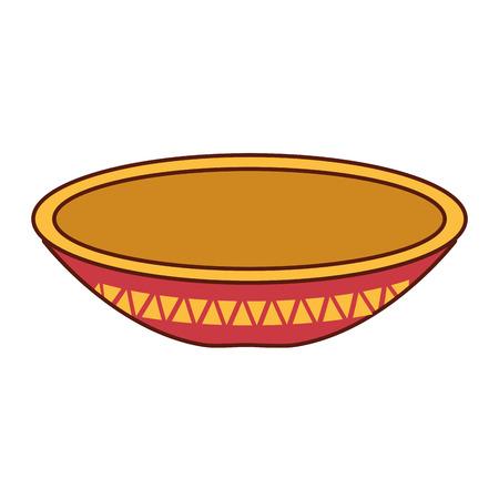 요리 멕시코 고전 아이콘 벡터 일러스트 디자인 일러스트