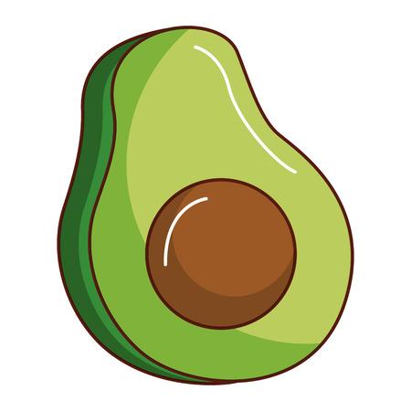 Fresh avocado isolated icon vector illustration design