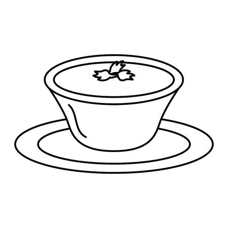 tomato sauce in dish vector illustration design Stock Vector - 91898370