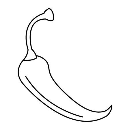 PIcé chili légume icône vector illustration design Banque d'images - 91898709