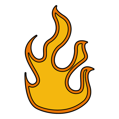 Fire flame isolated icon vector illustration design Illustration