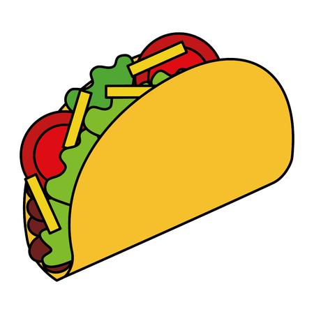 맛있는 멕시코 음식 타코 벡터 일러스트 레이션 디자인 일러스트
