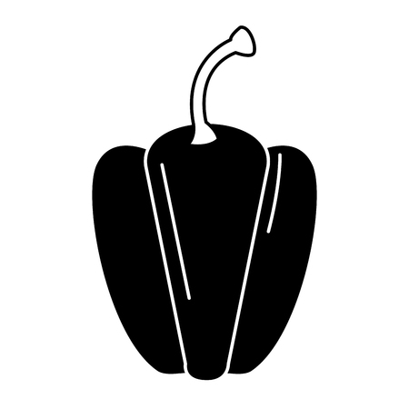 Fresh pepper vegetable icon vector illustration design