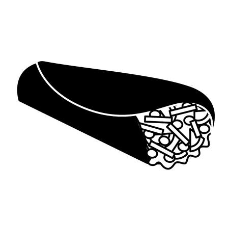 delicious mexican food burrito vector illustration design