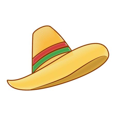 chapéu mexicano isolado ícone vector ilustração design
