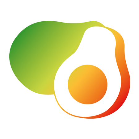 fresh avocado isolated icon vector illustration design Illustration