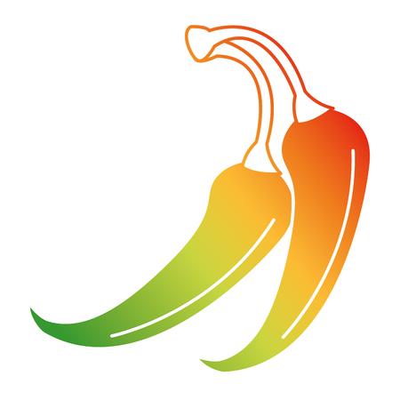 매운 칠레 야채 아이콘 벡터 일러스트 디자인