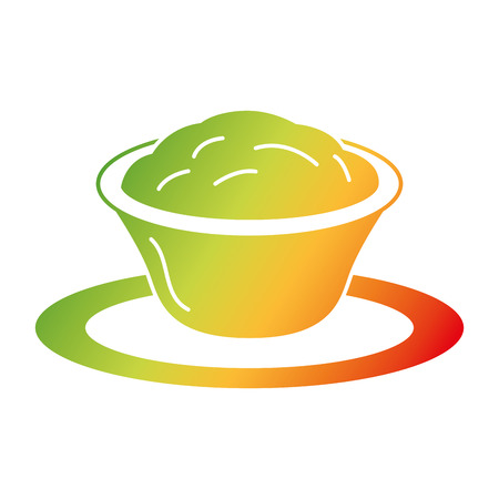 Progettazione dell'illustrazione di vettore dell'icona isolata salsa di formaggio deliziosa Archivio Fotografico - 91907472