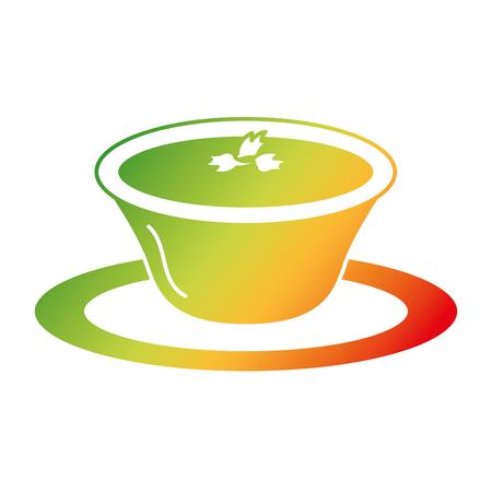 tomato sauce in dish vector illustration design Stock Vector - 91907473