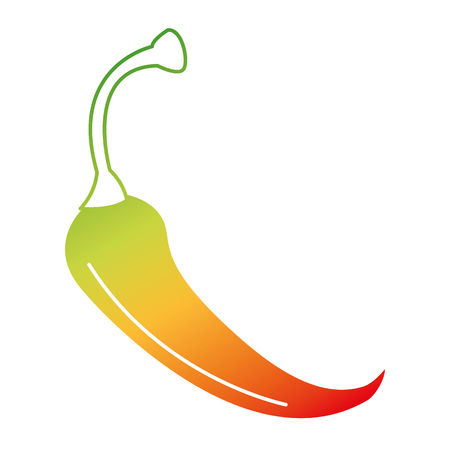 spicy chile vegetable icon vector illustration design Illustration