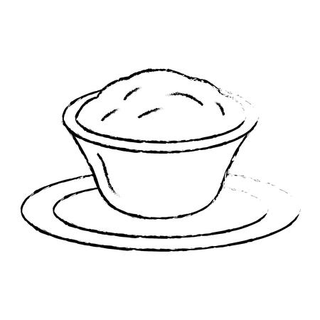 おいしいチーズソース分離アイコンベクトルイラストデザイン