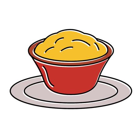 맛있는 치즈 소스 격리 된 아이콘 벡터 일러스트 레이 션 디자인 일러스트