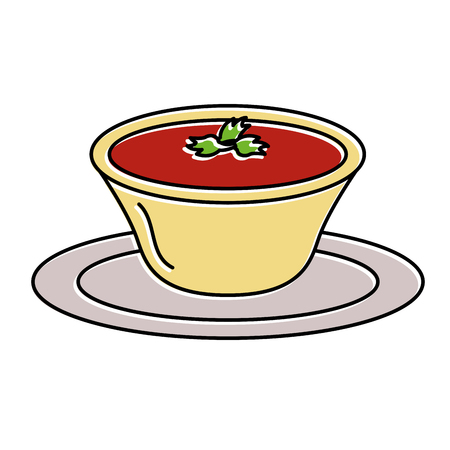 tomato sauce in dish vector illustration design