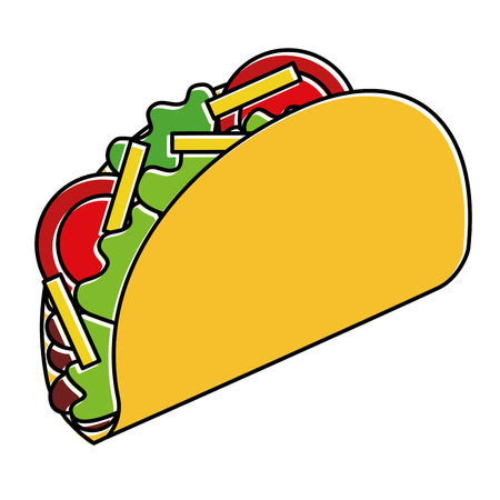 delicious mexican food tacos vector illustration design