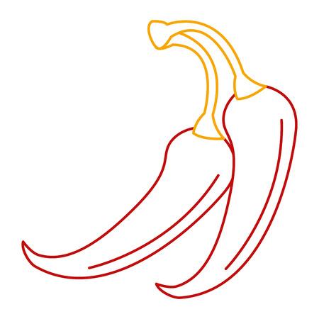 PIcé chili légume icône vector illustration design Banque d'images - 91909815