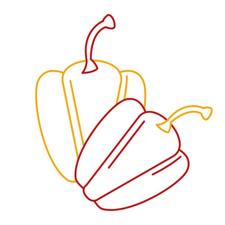 신선한 고추 야채 아이콘 벡터 일러스트 디자인 일러스트