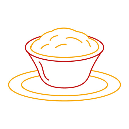 Delicious cheese sauce isolated icon vector illustration design Illustration