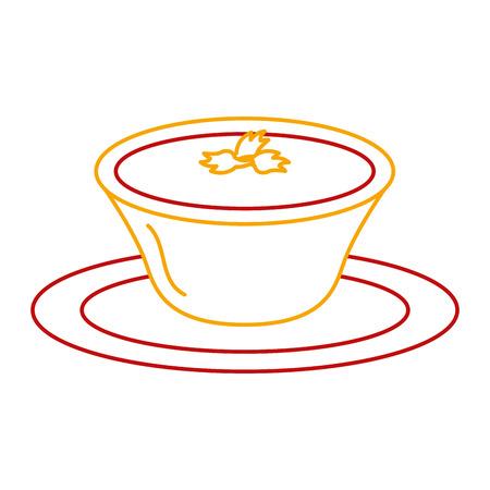 Tomato sauce in dish vector illustration design Ilustrace