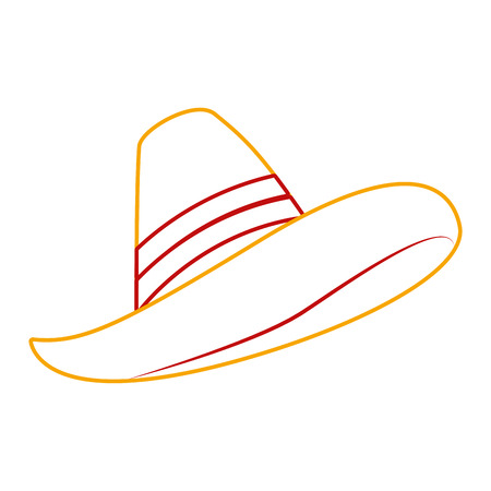 メキシコの帽子孤立したアイコンベクトルイラストデザイン  イラスト・ベクター素材