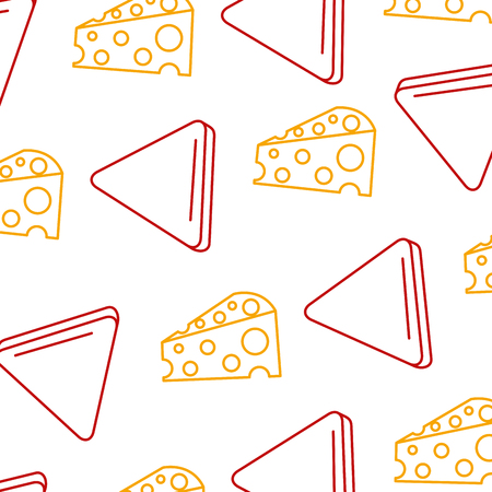 Delicious cheese with nachos pattern background vector illustration design Illustration