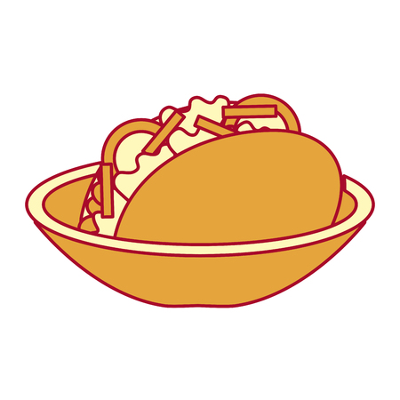 Dish with delicious mexican food tacos vector illustration design Illustration