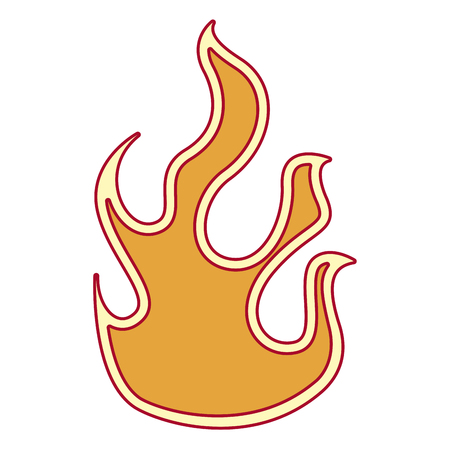 Fire flame isolated icon vector illustration design  イラスト・ベクター素材