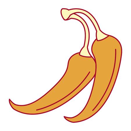 Conception de chili épicé légume icône vector illustration Banque d'images - 91938242