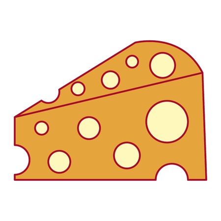 Delicious cheese isolated icon vector illustration design