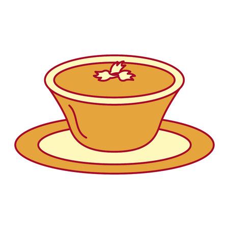 Tomato sauce in dish vector illustration design Illustration