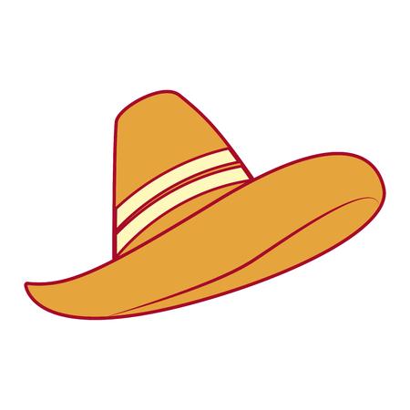メキシコの帽子分離アイコンベクトルイラストデザイン  イラスト・ベクター素材