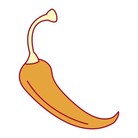 spicy chile vegetable icon vector illustration design Çizim