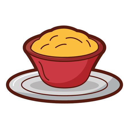 Progettazione dell'illustrazione di vettore dell'icona isolata salsa di formaggio deliziosa Archivio Fotografico - 91938638