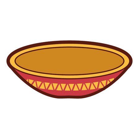 ディッシュメキシコクラシックアイコンベクトルイラストデザイン