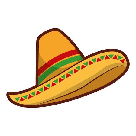 meksykański kapelusz na białym tle ikona wektor ilustracja projekt