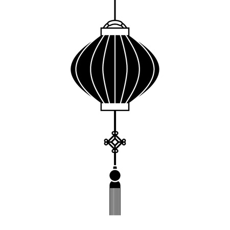 japanese lamp hanging icon vector illustration design